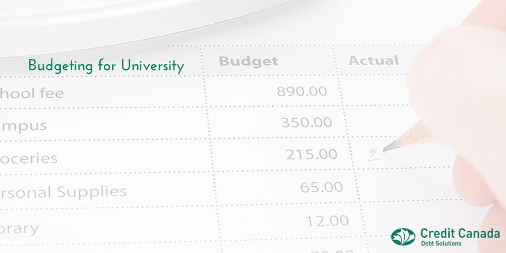 create a university budget