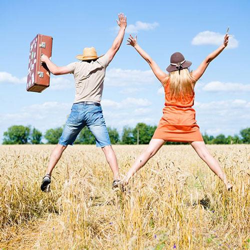 Millennial Couple Celebrating After Completing a Credit Building Program