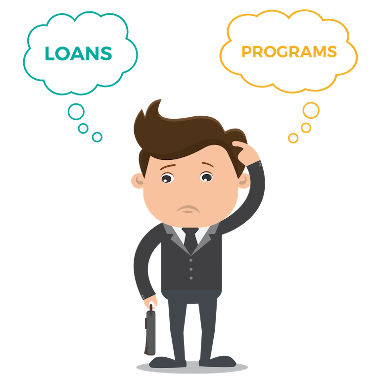 Businessman-question-loans-programs