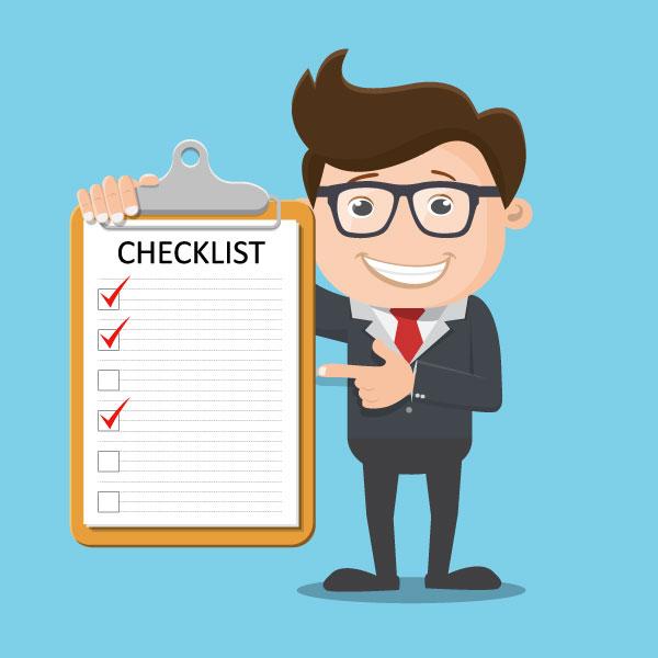 Illustration of Money Manger Holding a Checklist